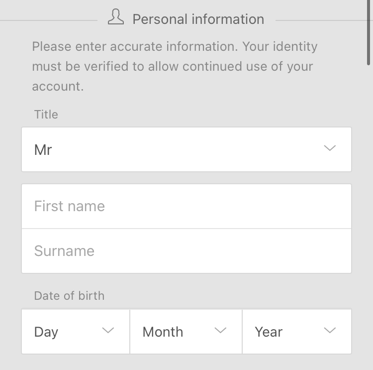 bet365の登録指名と生年月日