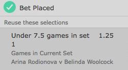 bet365,テニス,under