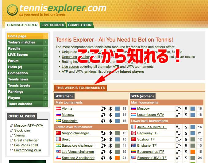テニスエクスプローラー サイト