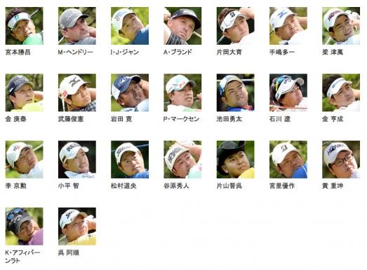 出場選手 ゴルフ 日本シリーズJTカップ 2015