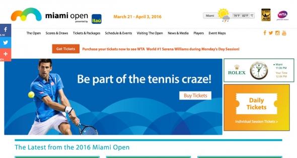 マイアミオープンテニス 2016