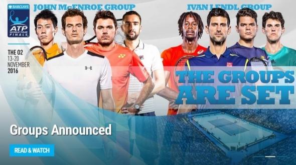 テニス,ワールドツアーファイナル,2016