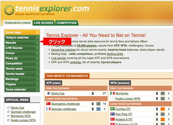 テニスエクスプローラー試合結果の見方01