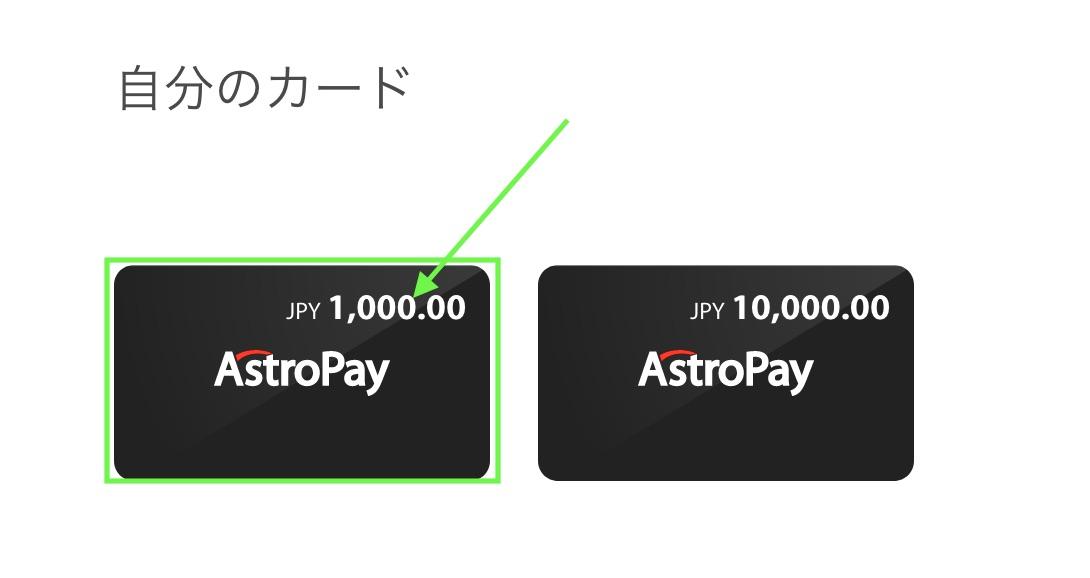 アストロペイ,ビットコイン,入金