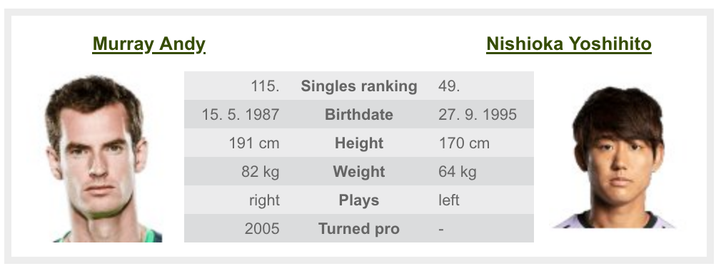 全米オープンテニスのマレー
