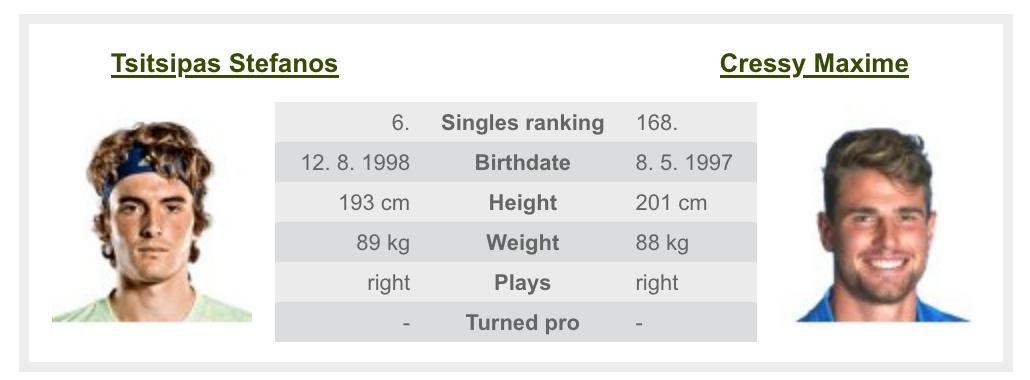 全米オープンテニス2020のチチパス