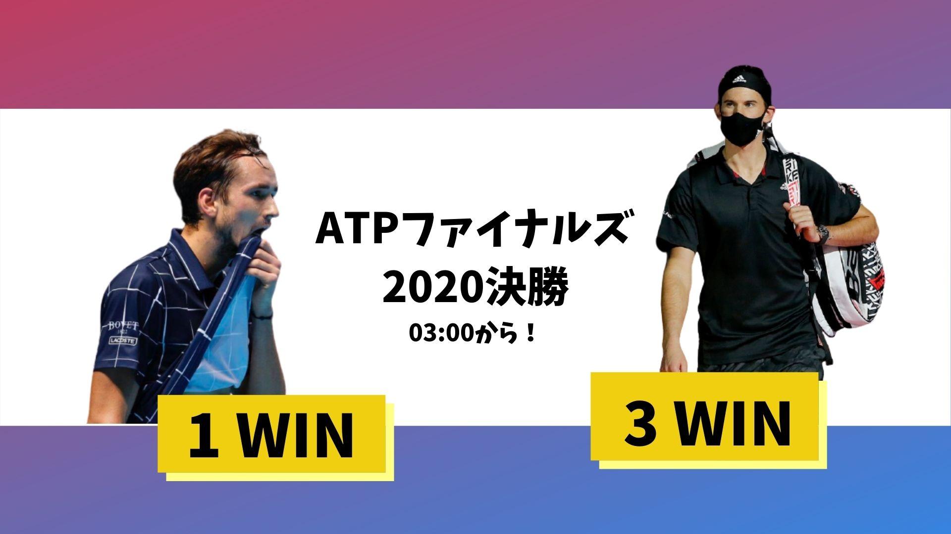 ATPファイナルズ2020決勝
