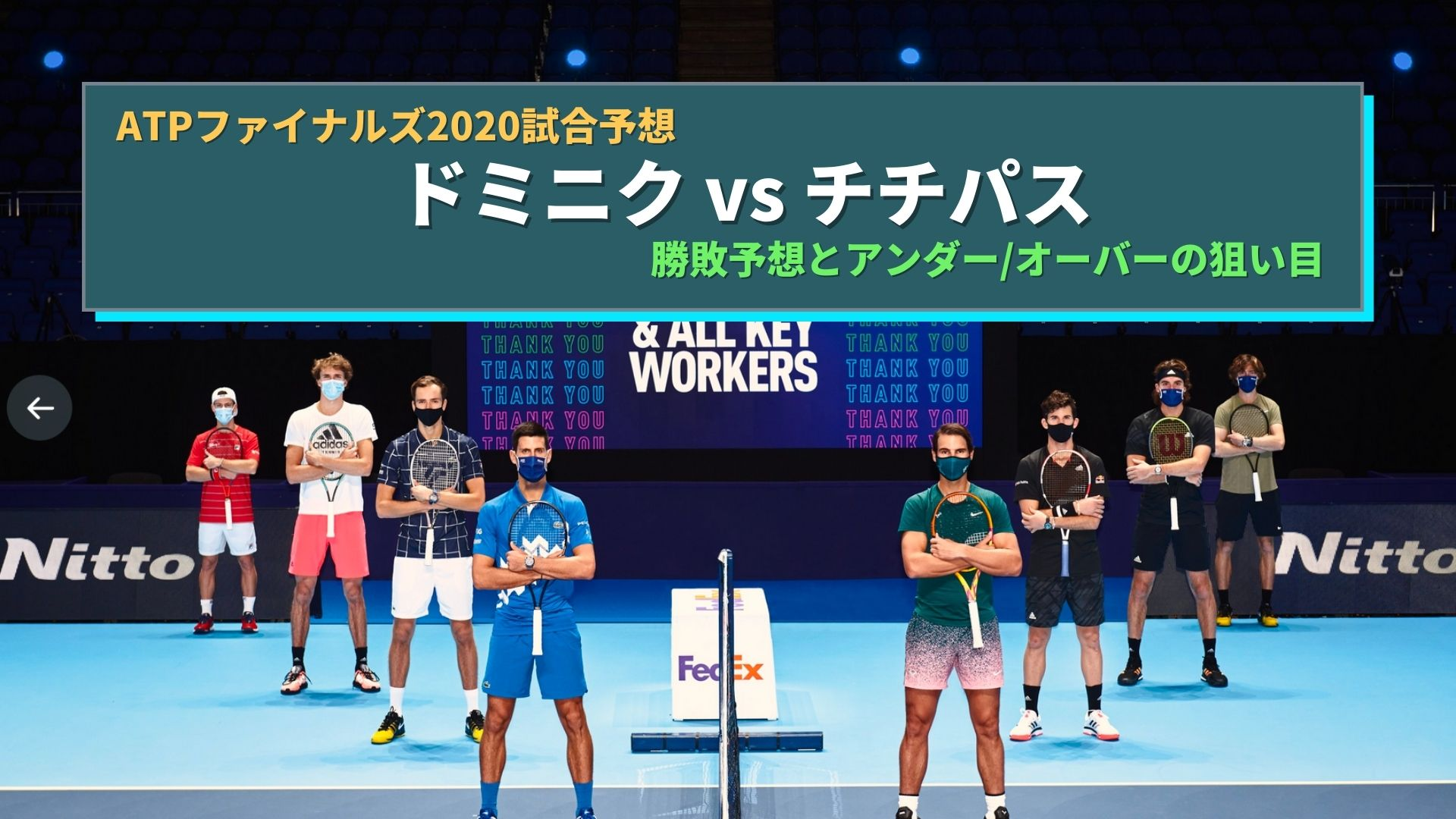ATPファイナルズ2020のブックメーカーテニス予想