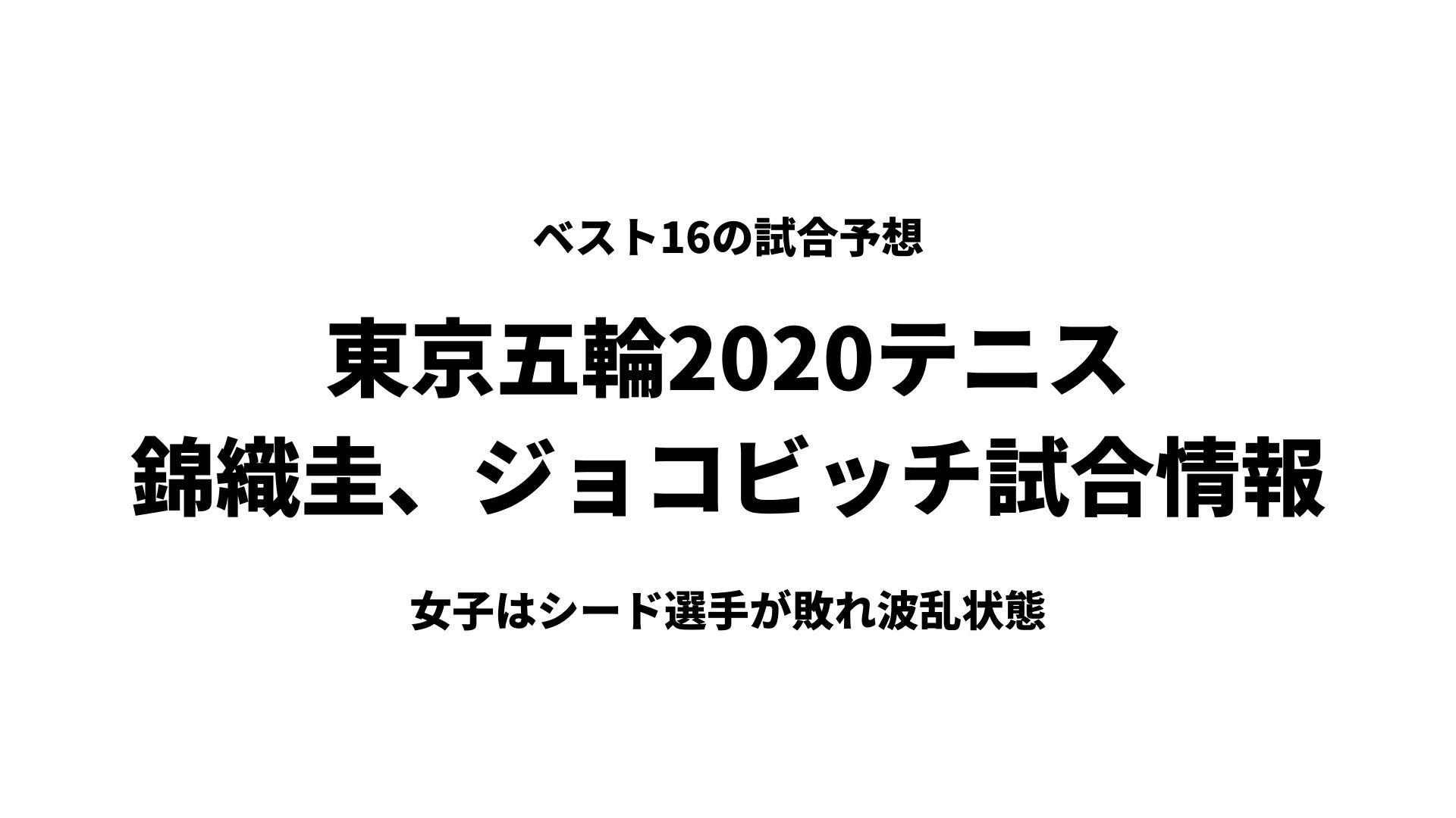 東京五輪2020男子テニスブックメーカーオッズ予想