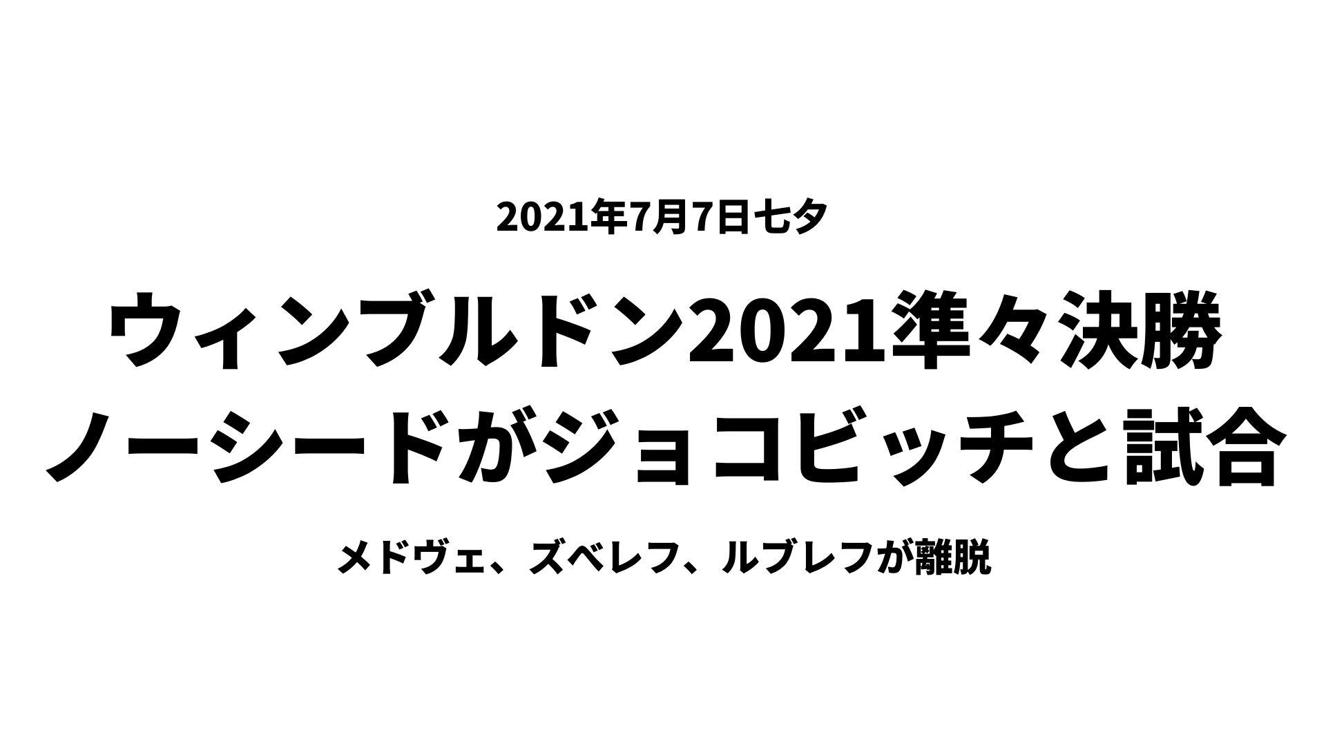 ウィンブルドン2021準々決勝ブックメーカーbet365予想